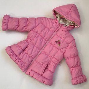 {Rothschild} Pink Puffer Jacket Coat Size 3T EUC